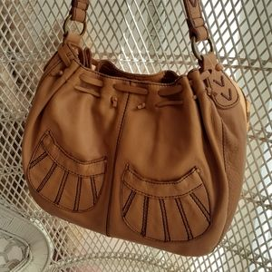 NEW Lucky brand scallops pockets hobo boho bag